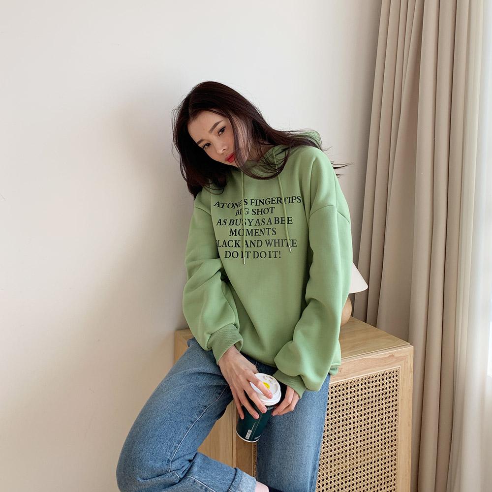 까코 커플 레터링 데일리 후드 티셔츠