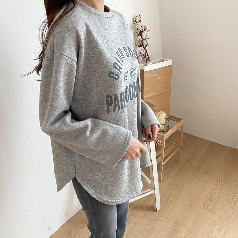 데트디 기본 프린팅 데일리 기모 여성 티셔츠