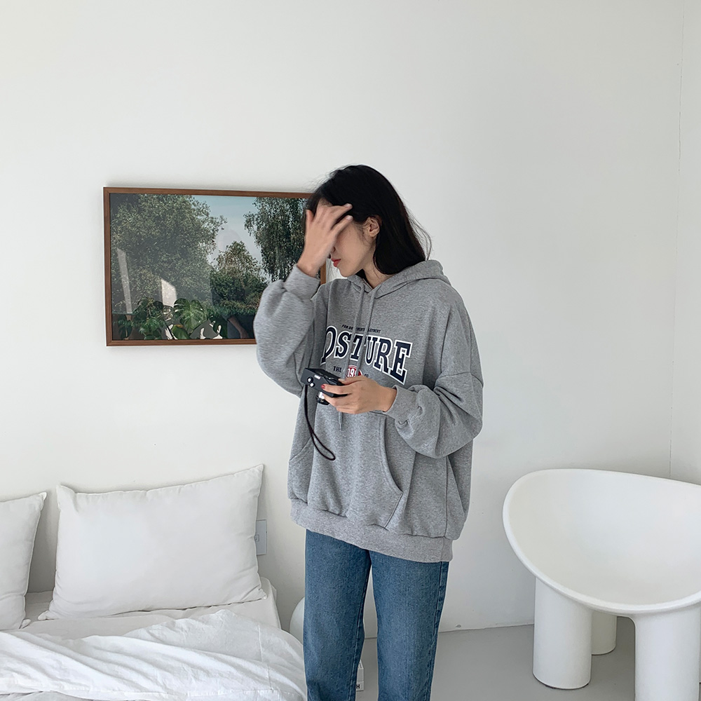 레듀 루즈핏 후드 프린팅 티셔츠