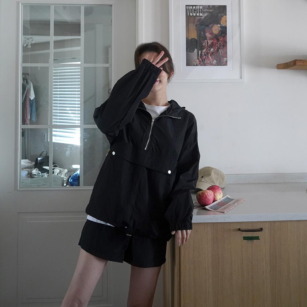 컬미 후드집업 밴딩 바지 SET