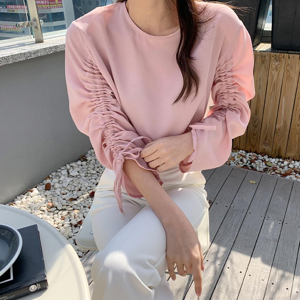 레노 소매셔링 모던 여성 쉬폰 블라우스