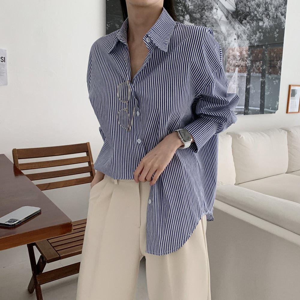 라안카 스트라이프 셔츠