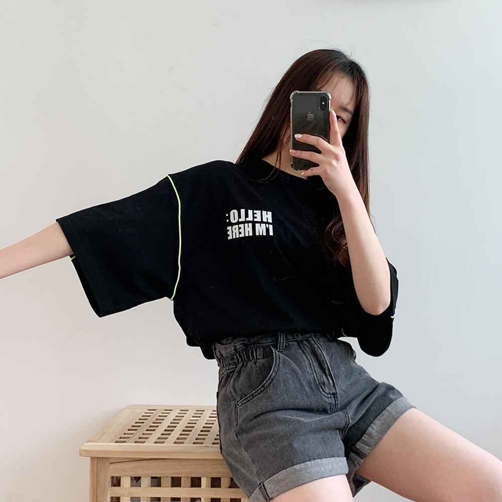 니스 여성 기본 베이직 라운드 티셔츠
