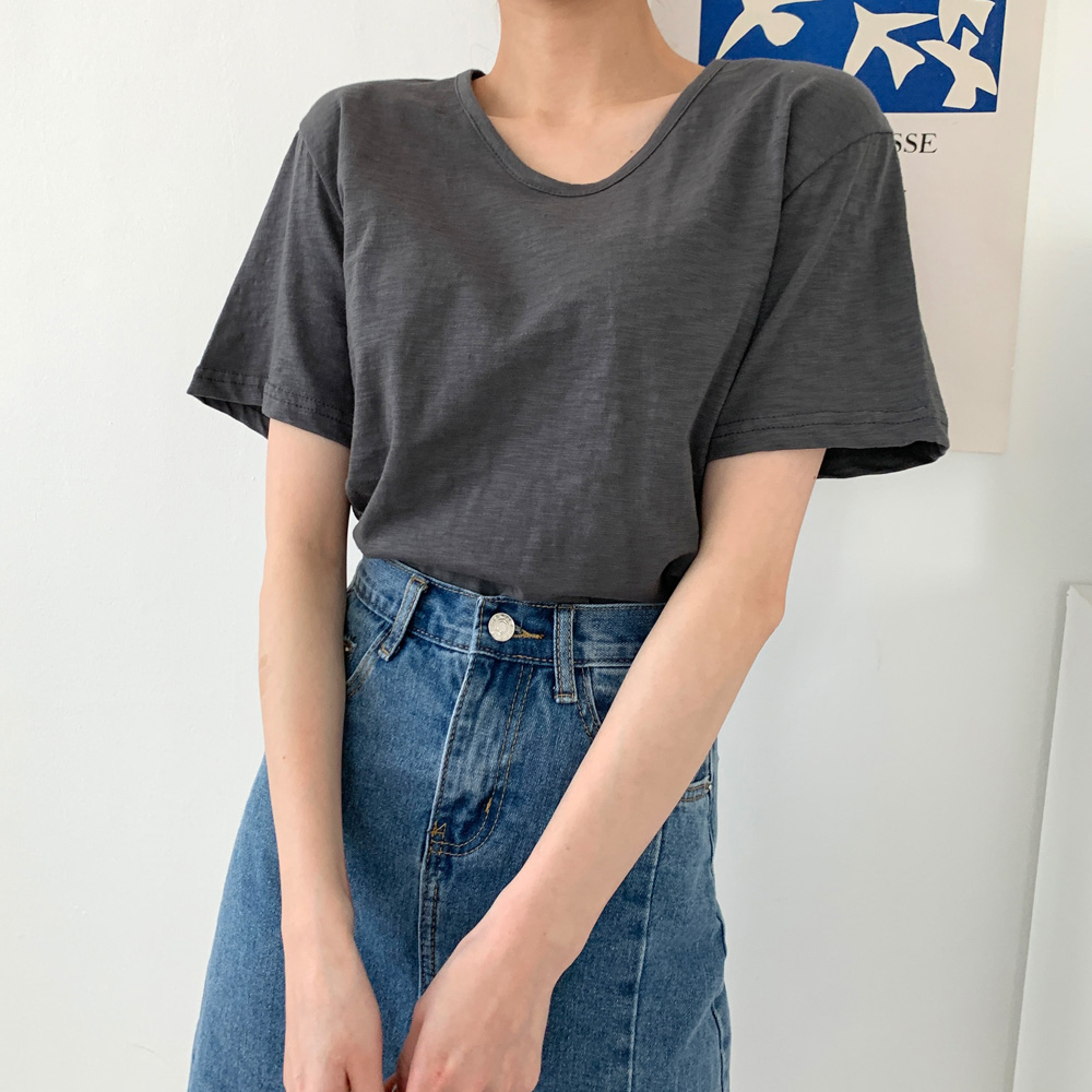 대레 기본 편한 무지 반팔 티셔츠