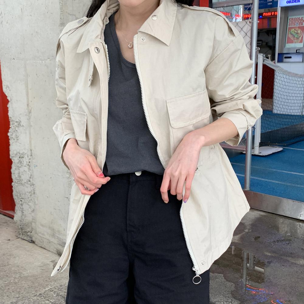 라로 데일리 오버핏 야상 여성 자켓